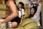 淫行相手に自宅に押し入られたJKが親子丼レイプされる 画像
