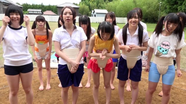 相撲大会に集まったJS集団にイタズラしてレイプ!
