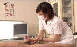 美人ナースが入院患者のチンポを手コキでザーメンを搾取してくれる 画像