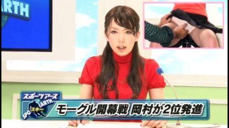 波多野結衣 女子アナがカメラの外でマンコをガン突きされる 画像