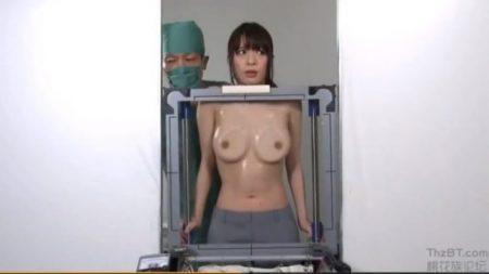 媚薬ゼリーを塗られた巨乳OLがレントゲン検査で変態医師にセクハラされちゃうwww 画像