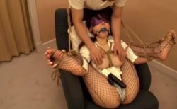 知花メイサ 監禁拘束された美人女医がマンコを固定バイブで甚振られる動画 画像