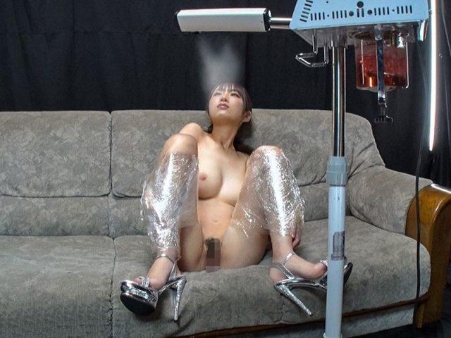 藤江史帆 手足を拘束された美少女が媚薬ミストを嗅がされガン突きで犯される動画