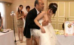 有村千佳 SEXのハードルが異常に低い世界で花嫁が皆の前でSEXしちゃう動画 画像